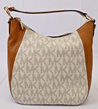 NEW MICHAEL KORS LEATHER FULTON LARGE TZ SHOULDER BAG CONVERTIBLE VANILLA - $164.00