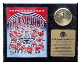 2015 Chicago Blackhawks Champions 8x10 Photo Clock Plaque with Engraved Nameplat - $39.19