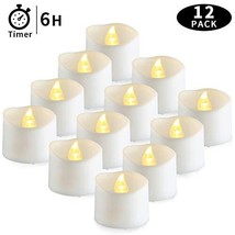Timer Tea Lights, Battery Operated Tea Candles,6 Hours on (Warm White -1... - $23.60