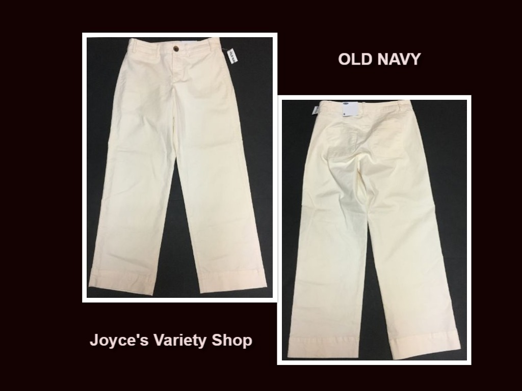 Old navy 0 white pants collage
