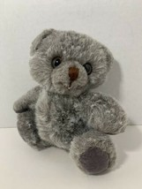 "Russ Berrie Silver small 7"" gray teddy bear vintage stuffed animal toy - $9.89"