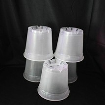 (15 Pack) 6'' Clear Round Plastic Orchid Pot by Sophie's Orchids  - $36.85