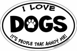 Ovalado Mascota Imán Amor Perros Coche Refrigerador con Orgullo Hecho en... - $15.10 CAD