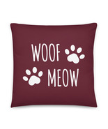Dog Pillow, Cat Pillow, Dog Mom, Dog Dad, Cat Mom, Cat Dad, Gift, Animals, Mauve - $32.95 - $36.95
