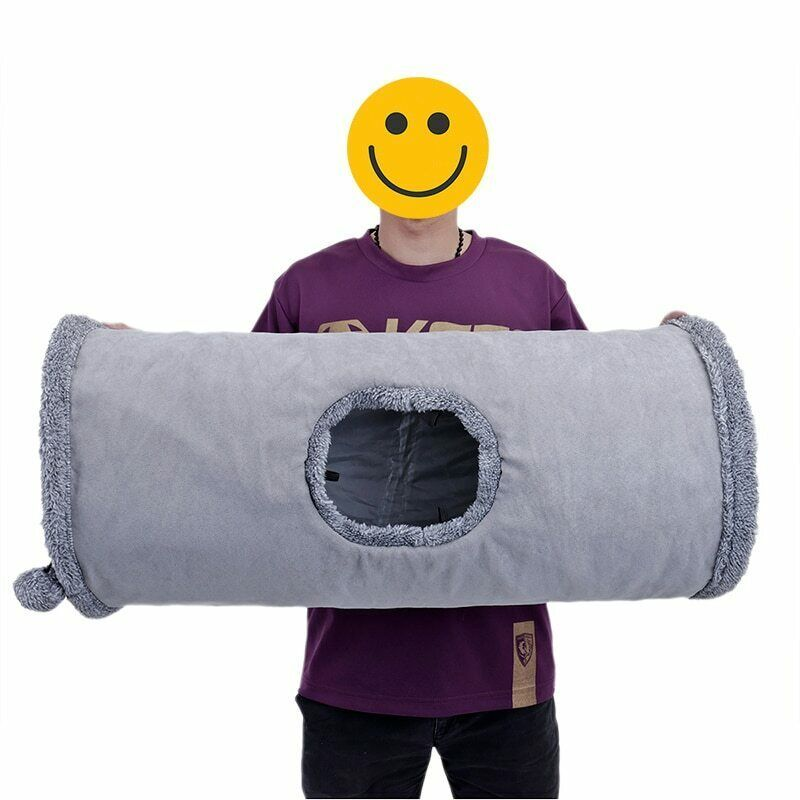 Collapsible Cat Tunnel Crinkle Kitten Play Tube For Large Cats Dogs Bunnies Toy  image 12