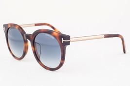 Tom Ford Janina Dark Havana / Blue Gradient Sunglasses TF435-F 52P Asian Fit - $185.22