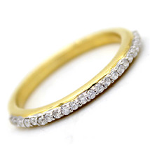 Round Simulated Diamond Stackable Band 925 Sterling Silver Ring Size 6 7... - $17.77