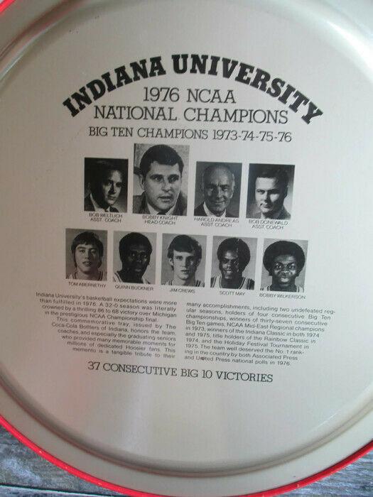 Coca-Cola Commemorative Tray Indiana University 1976 NCAA Basketball Champs image 6