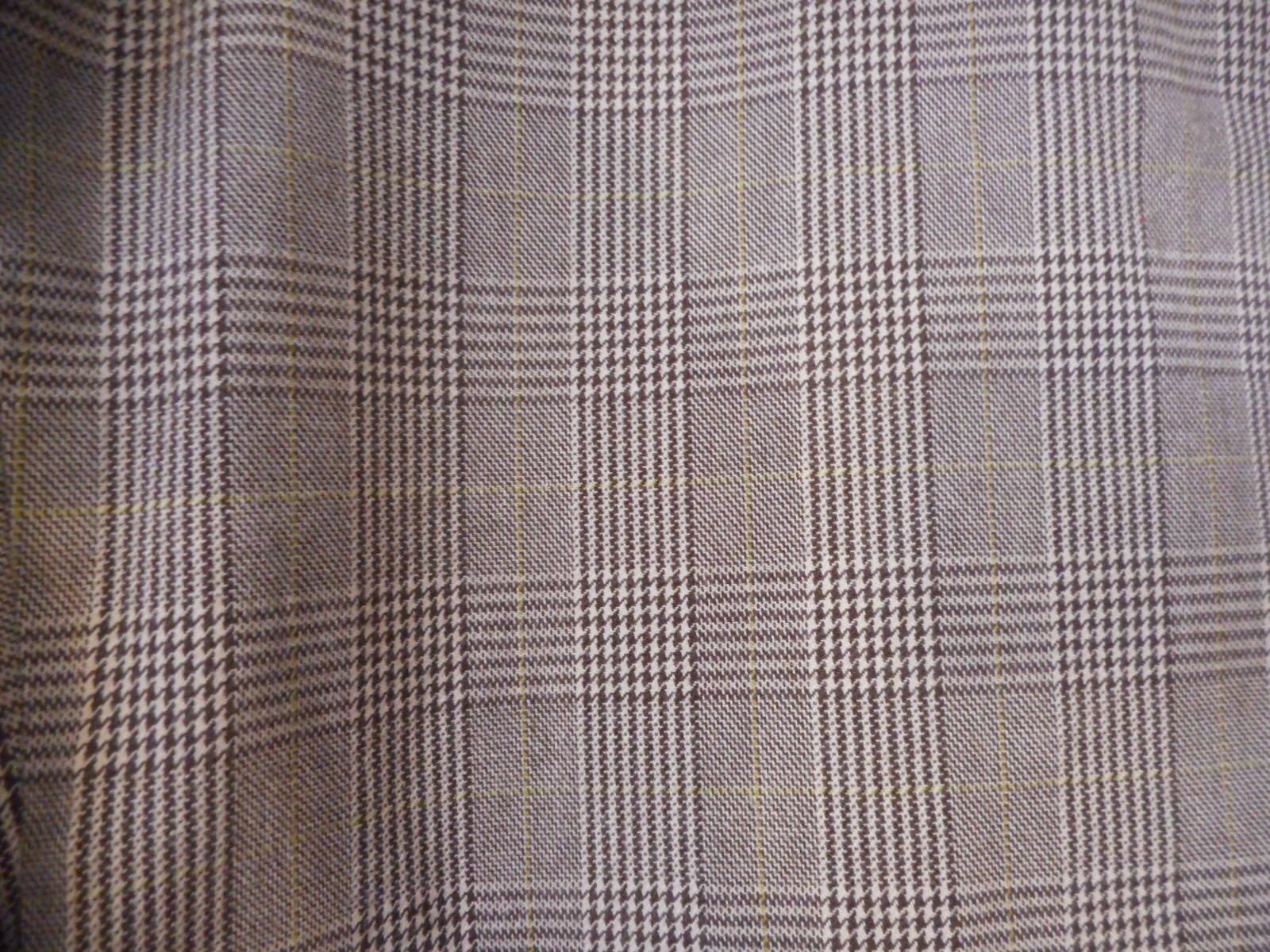 GAP Stretch Brown/ green accent Houndstooth / plaid Size 10  cotton blend Pants