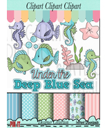 Under The Deep Blue Sea Clip Art - $1.35