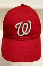 Washington Nationals YOUTH Red Baseball Cap Hat Adjustable Strap OC Sports OSFM. - $14.98