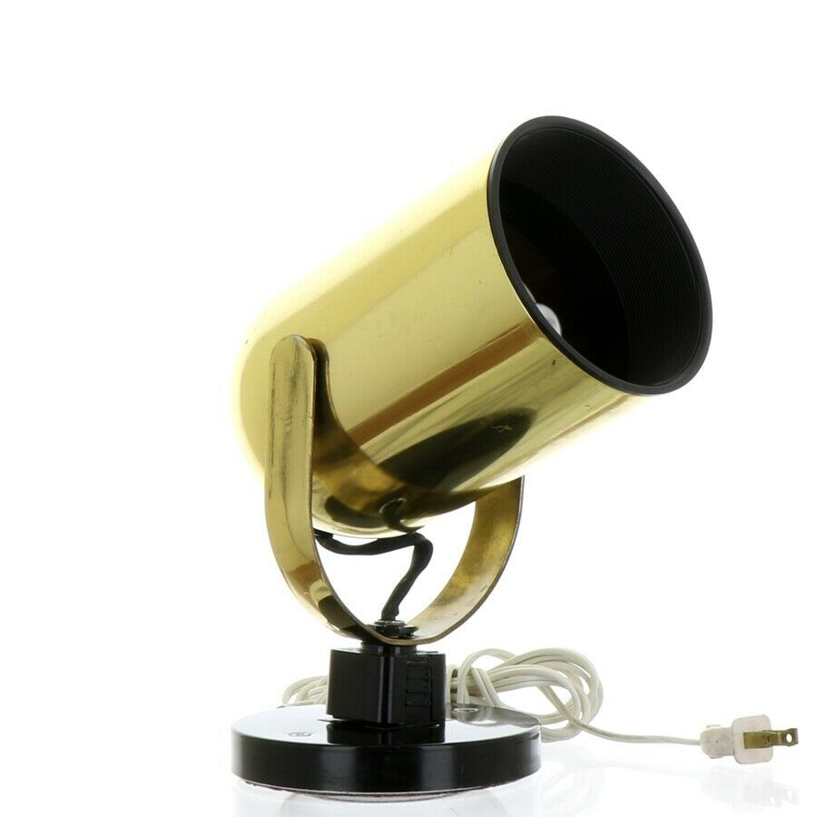 Vintage 1980s Gold Tone Juno Track Can Accent Spot Light