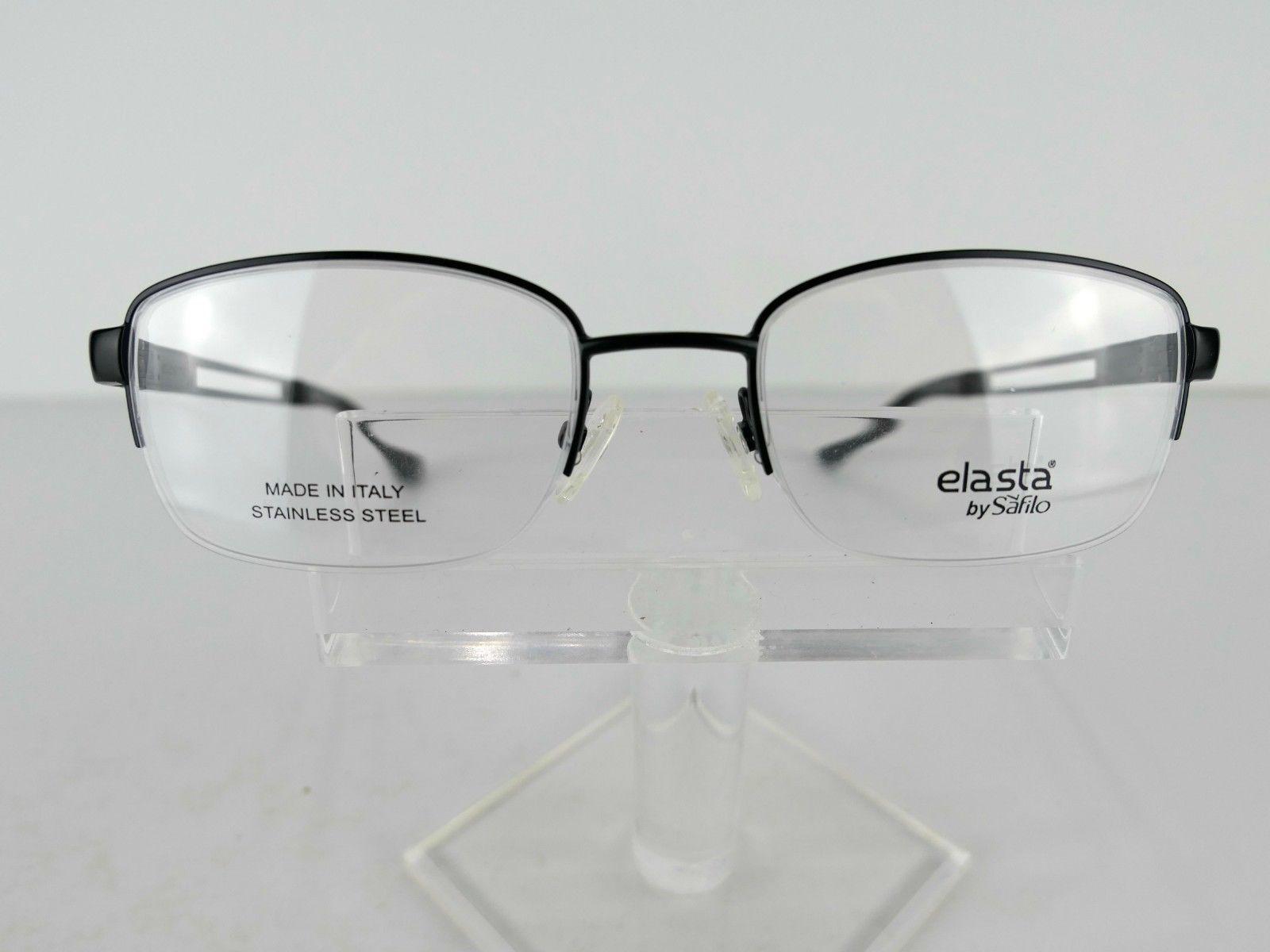 Safilo Elasta E 3095 (0003)Satin Black 51 x 19 140 Eyeglass Frames Eyewear