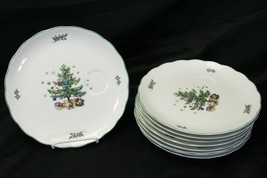 """Nikko Happy Holidays Snack Plates with insert for cup 9"""" Lot of 9 - $68.59"""