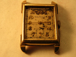 VINTAGE Waltham 21 jewel 750-b GOLD FILLED SQUARE watch TO RESTORE good ... - $91.92