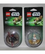 Star Wars Lego Figure Magnet Lot of 2 Luke Skywalker Darth Maul - $12.95