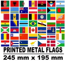 flag of country or uk county printed on a metal steel sign - $8.89
