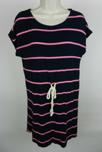 J. Crew Outlet S Womens Dress Navy Blue With Pink Stripes Ties at Waist - $29.69