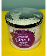 Bath & Body Works Spiced Apple Toddy Scented Jar Essential Oil Candle 14.5 - $34.64