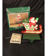 Midwest Painted Cast Iron Santa in Sleigh Stocking Hanger Holder Christmas  - $59.39