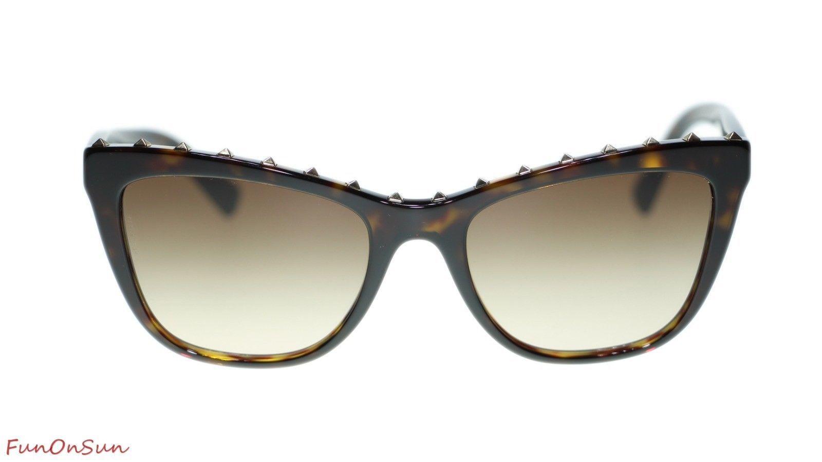 Valentino Sunglasses VA4022 500213 Havana/Brown Lens Italian Authentic 54mm