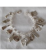 Music Theme Charm Bracelet Handcrafted + Free Organza Roses Bag $15.99 ... - $19.99