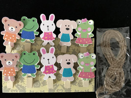 120pcs Cute Wooden Clips,Office and School Supplies Wooden Pegs,Pin Clot... - $18.00