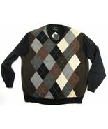 Castagne Cashmere Argyle Sweater Men's Size 2XL NWT - $59.99