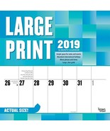 Large Print 2019 12 x 12 Inch Monthly Square Wall Calendar, Easy to See ... - $5.75