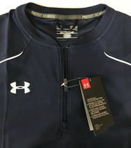 NWT Under Armour Ultimate Cage 1/4 Zip Pullover Jacket Navy Men's S MSRP... - $34.49