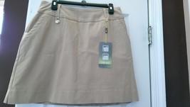 Nwt Ladies Swing Control By Lisette Sport Camel Slimming Golf Skort - Size 10 - $52.99
