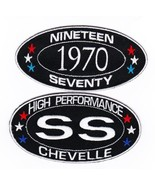1970 SS CHEVELLE SEW/IRON ON PATCH BADGE EMBROIDERED CHEVY MALIBU CHEVROLET - $12.50
