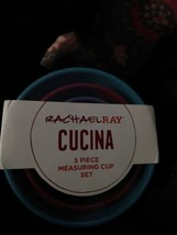 Rachael Ray CUCINA Melamine Nesting Measuring Cups Assorted 5 pc Set Ear... - £16.08 GBP