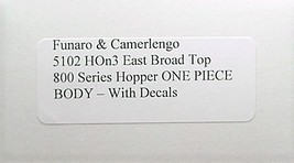 Funaro & Camerlengo HOn3 East Broad Top 800 Series Hopper Kit 5102 image 2