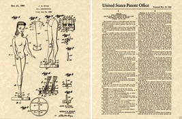 US PATENT for the BARBIE DOLL 1961 Art Print READY TO FRAME!! Mattel Joh... - $9.89