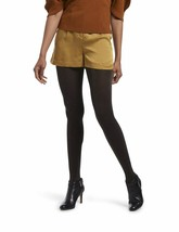 Hue Opaque Metallic Tights Black Gold Size Medium/Large - NWT - $6.03