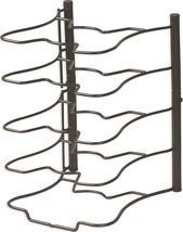Kitchen Cabinet Pantry Pan and Pot Lid Organizer Rack Holder, Bronze - $31.99