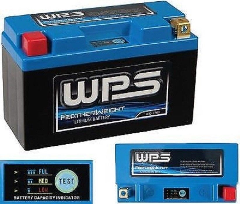 New WPS 490-2527 Featherweight Lithium Ion Motorcycle Battery 12N9-3A / 12N9-3B