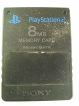 Sony Playstation 2 Memory Card PS2 Black 8MB MagicGate SCPH-10020 - $9.68 CAD