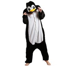 Adults' Kigurumi Pajamas Penguin Animal Onesie Pajamas Polar Fleece Blac... - $13.00