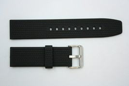 22mm Braided  Black Rubber Watch BAND Compatible FITS Luminox S/S Buckle - $20.65