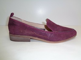 Vince Camuto Size 6.5 M KADE Burgundy Perforated Suede Loafers New Women... - $107.91
