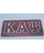 Kappa Alpha Psi - Red Outlined Mirror License Plate - £21.72 GBP