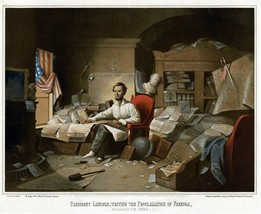 9487.Decoration Poster.Room Wall art.Home decor.Abraham Lincoln write in... - $11.29+