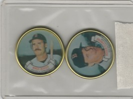 1987 Topps Coins Red Sox  Roger Clemens Wade Boggs - $1.80