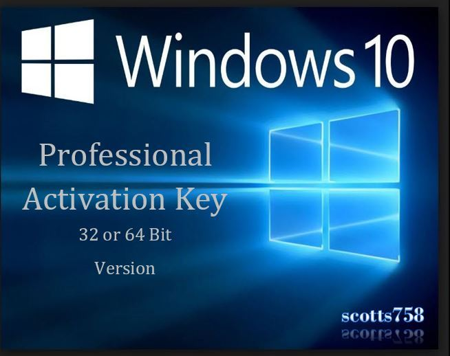 Windows 10 professional pro 32 64 bit product activation for Window 64 or 32