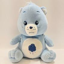 "Scarce 2003 Care Bears Grumpy Bear Rain Storm Cloud Hearts Lightening Blue 10"" - $20.21"