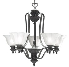 Antique Pewter Gold Accents Chandelier Dinning Table Kitchen Kichler Lighting - $182.86