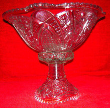 American Brilliant Crystal Antique Centerpiece Vintage Early 1900's - $1,194.93