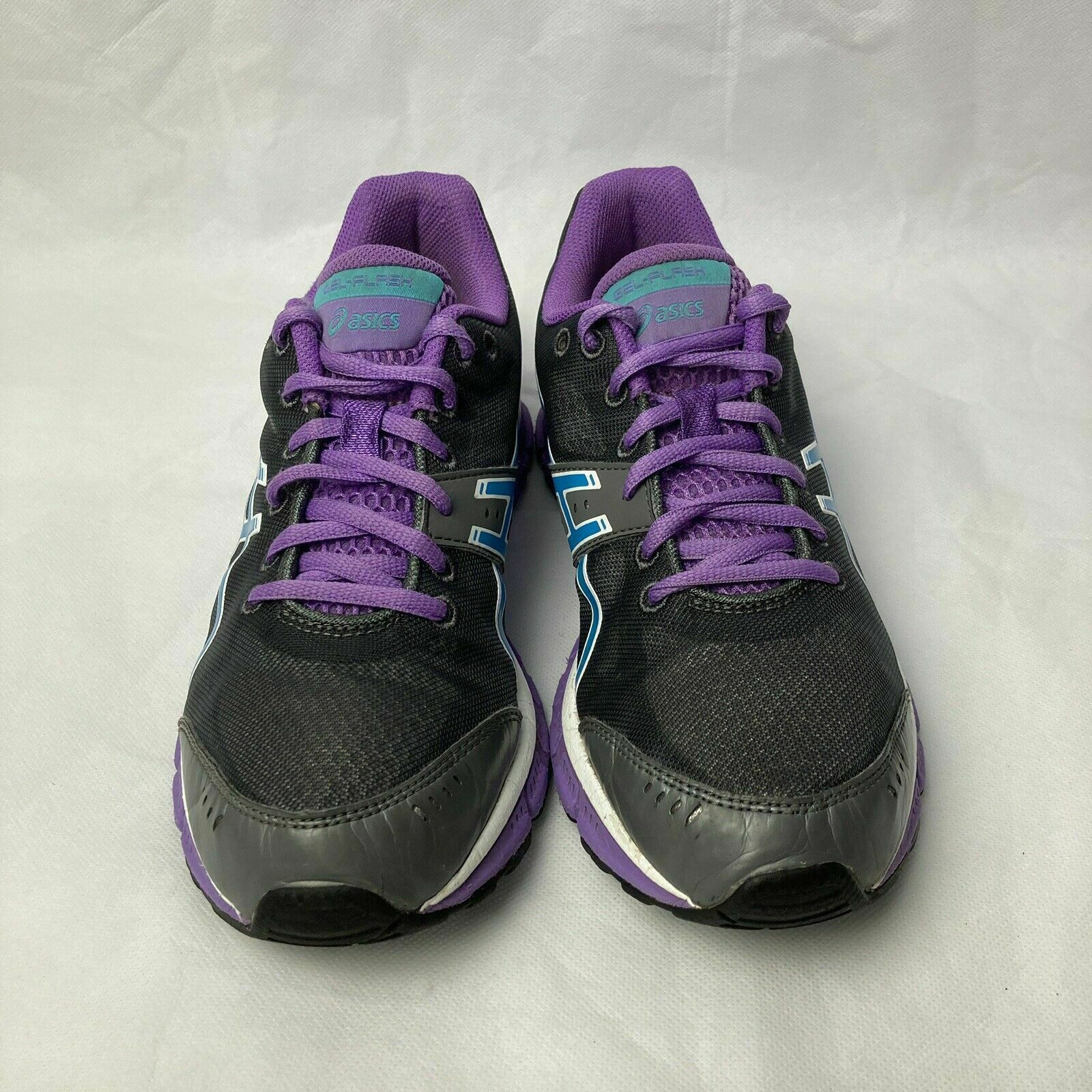 Primary image for Womens Asics Gel Flash Running Training Black/ Purple Shoes size 7 T2J5N